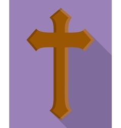 cross wood religion church icon graphic vector image