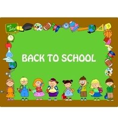 Cute Back to School Frame vector image