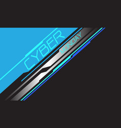 cyber monday blue neon silver line circuit vector image