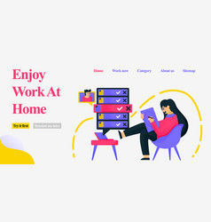design a girl sitting in a home chair casually vector image