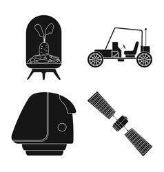 Design of mars and space logo collection vector