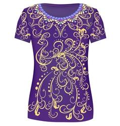 Design T-Shirts Print a fashionable ornament vector