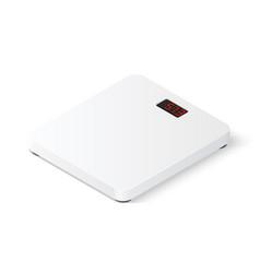 Digital floor scales isometric vector