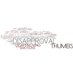 Disapproval word cloud concept vector