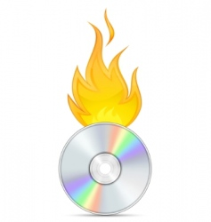 dvd burn vector image
