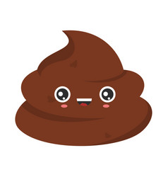 funny smiling poop character isolated stinky poo vector image