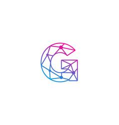 G letter network logo icon design vector
