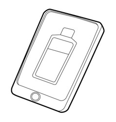 Gadget charging battery icon outline style vector