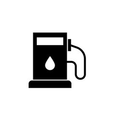 gas station oil icon on white background can be vector image
