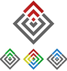 Geometric Squared Logo Set vector