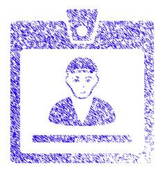 Guy access card icon grunge watermark vector