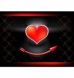 Heart arrow illustration vector