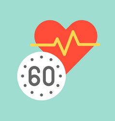Heart rate and vital sign medical and hospital vector