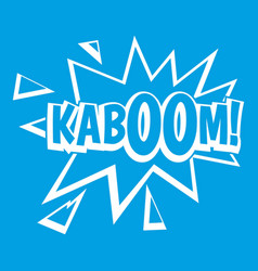 Kaboom explosion icon white vector