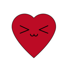 Kawaii heart health care medicine symbol vector