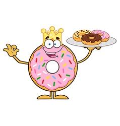 King Donut Cartoon vector image