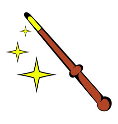Magic wand icon icon cartoon vector