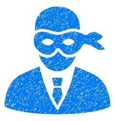 Masked Thief Grainy Texture Icon vector