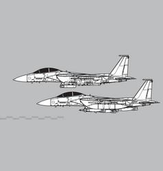 Mcdonnell douglas f-15e strike eagle vector