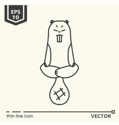 Meditative Animals series - beaver vector