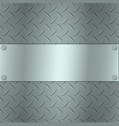 Metallic background with tread plate texture and vector