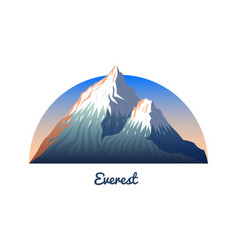 Mount everest peaks and landscape early in a vector