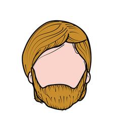 Nice man face with haistyle and beard vector