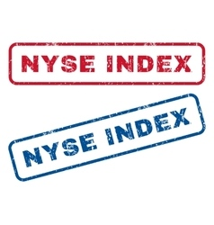 Nyse Index Rubber Stamps vector
