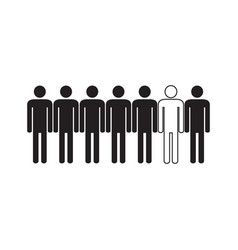 People are different icon vector