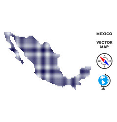 Pixelated mexico map vector