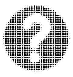 query halftone icon vector image