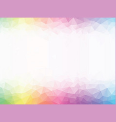 rainbow colored geometric background vector image