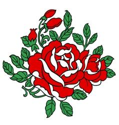 Rose details vector