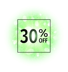 Sale banner 30 percents off vector