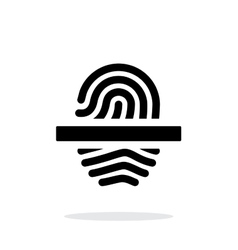 Scanning finger icon on white background vector image