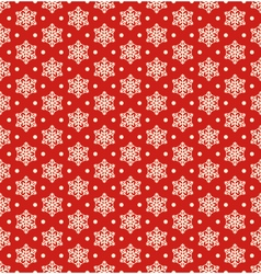 Seamless Christmas Winter Pattern with Snowflakes vector