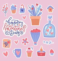 set color doodle stickers or patches for vector image