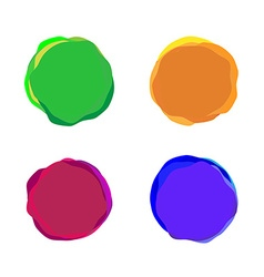 set color paint blobs for banners or badges use vector image