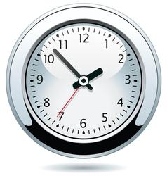silver clock vector image