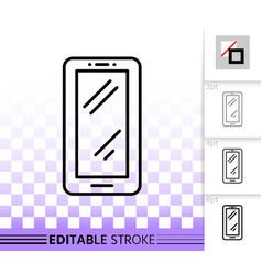 smartphone simple black line icon vector image