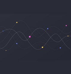 sound wave dotted with colored circles abstract vector image