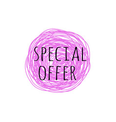 Special offer grunge doodle sketch 90s vector