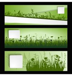 Strip of grass vector