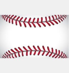 Texture of a baseball sport background vector