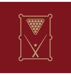 The billiard table icon Game symbol Flat vector
