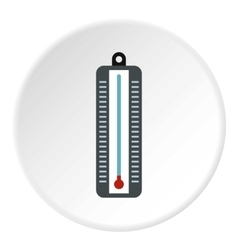 Thermometer with low temperature icon flat style vector