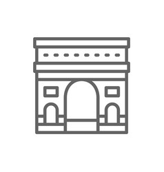 triumphal arch france landmark line icon vector image