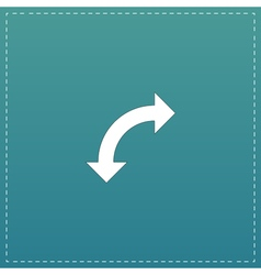 Turn arrow icon vector