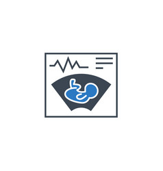 ultrasound related glyph icon vector image