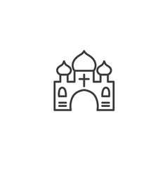 Urban and city element icon - church temple in vector